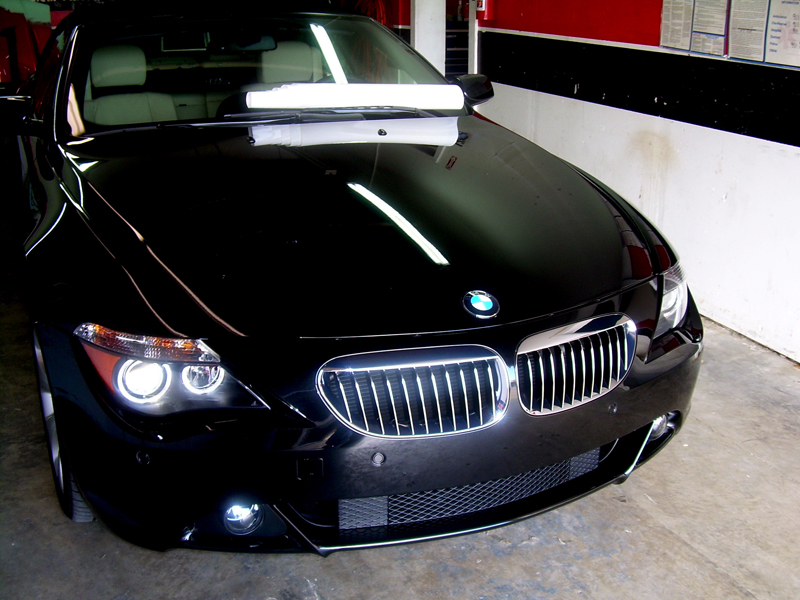 Car With Clear Bra Paint Protection Film