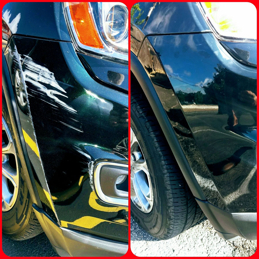 Plastic Bumper Repair - Before and After